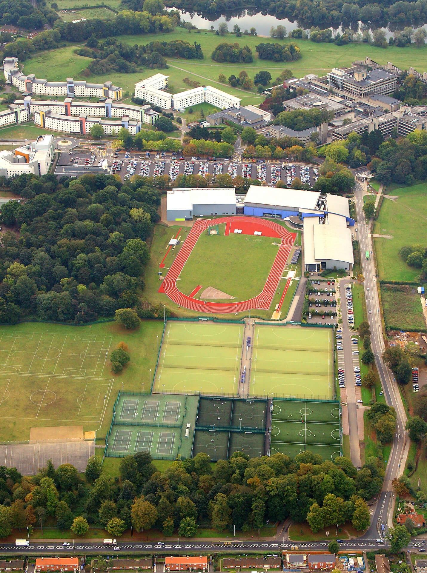 Aerial View of UEA's Sportpark