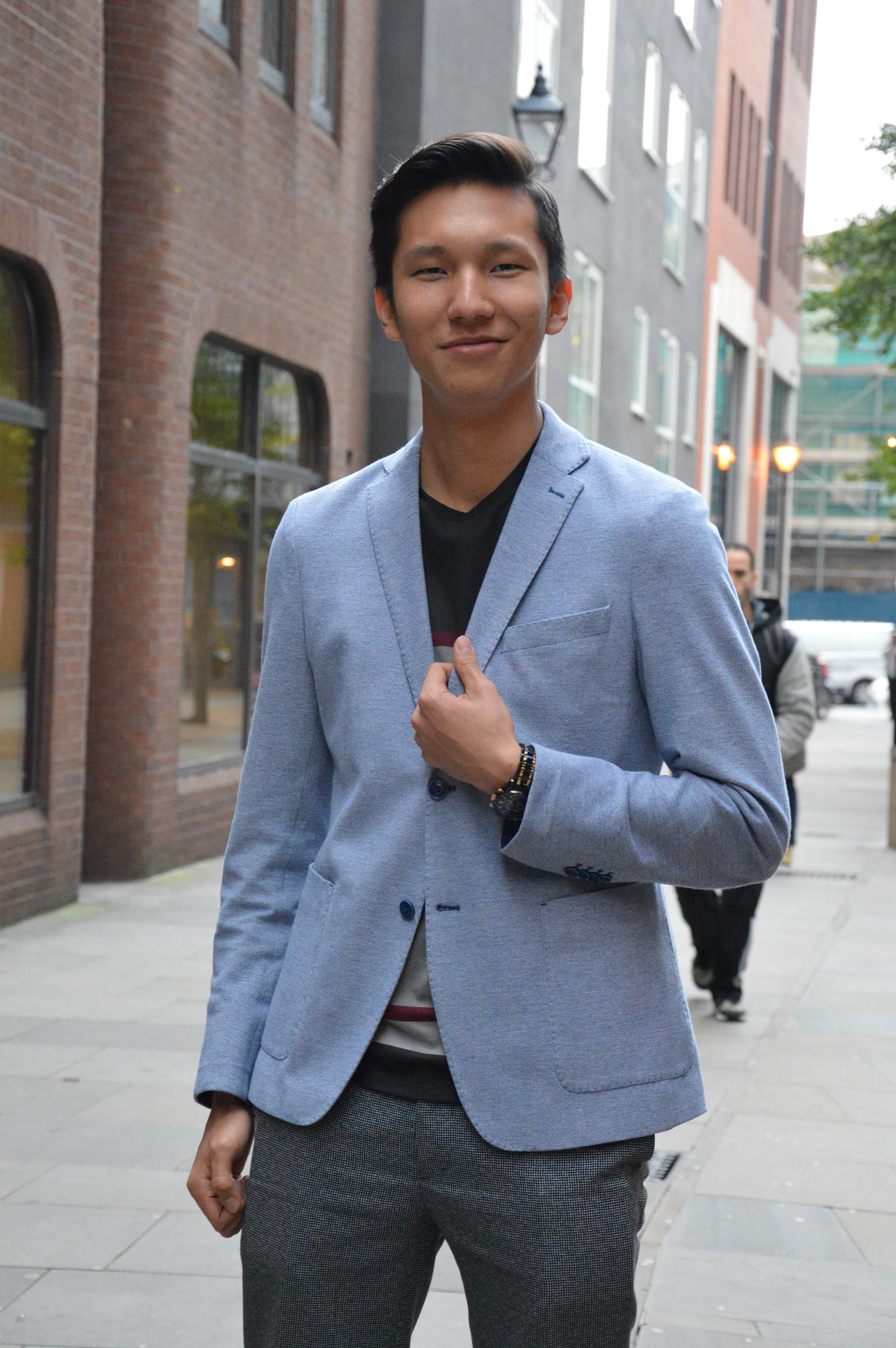 Photo of international student Aibar at INTO London