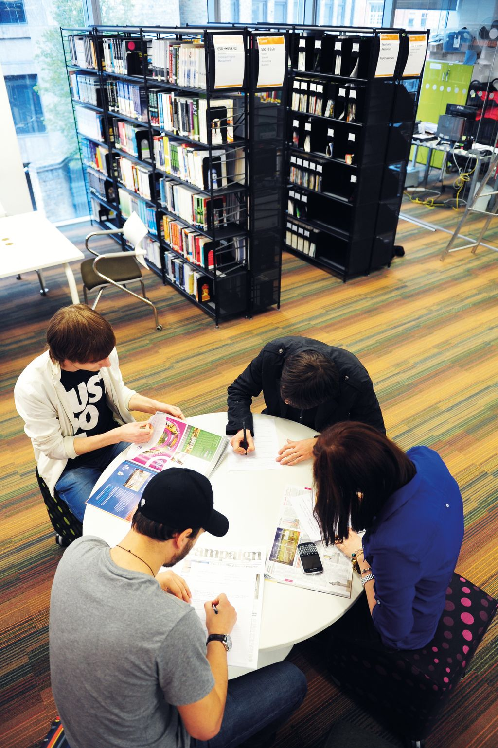 International students in the Learning Resource Centre (LRC)