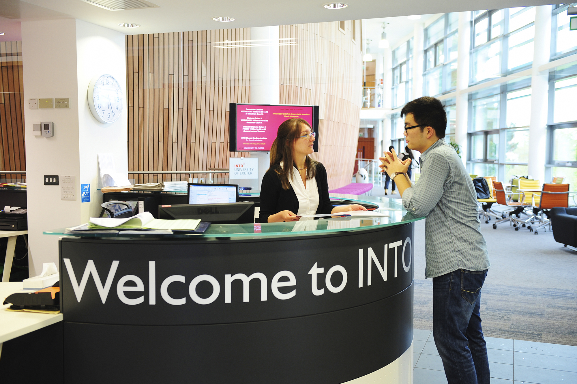 INTO University of Exeter Welcome Desk
