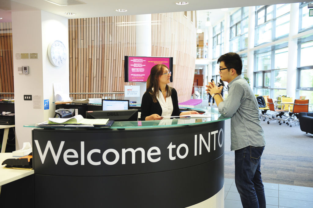INTO Centre Welcome Desk