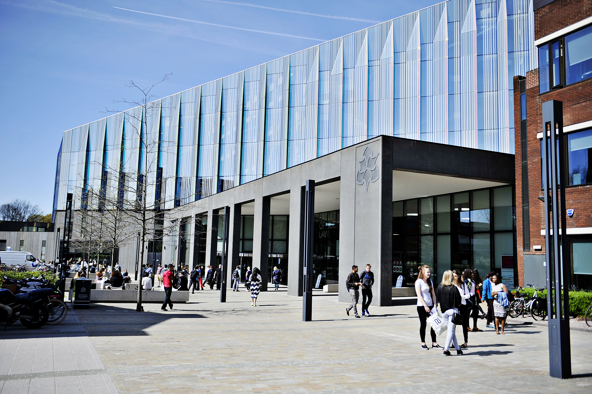 Outside Manchester Metropolitan University