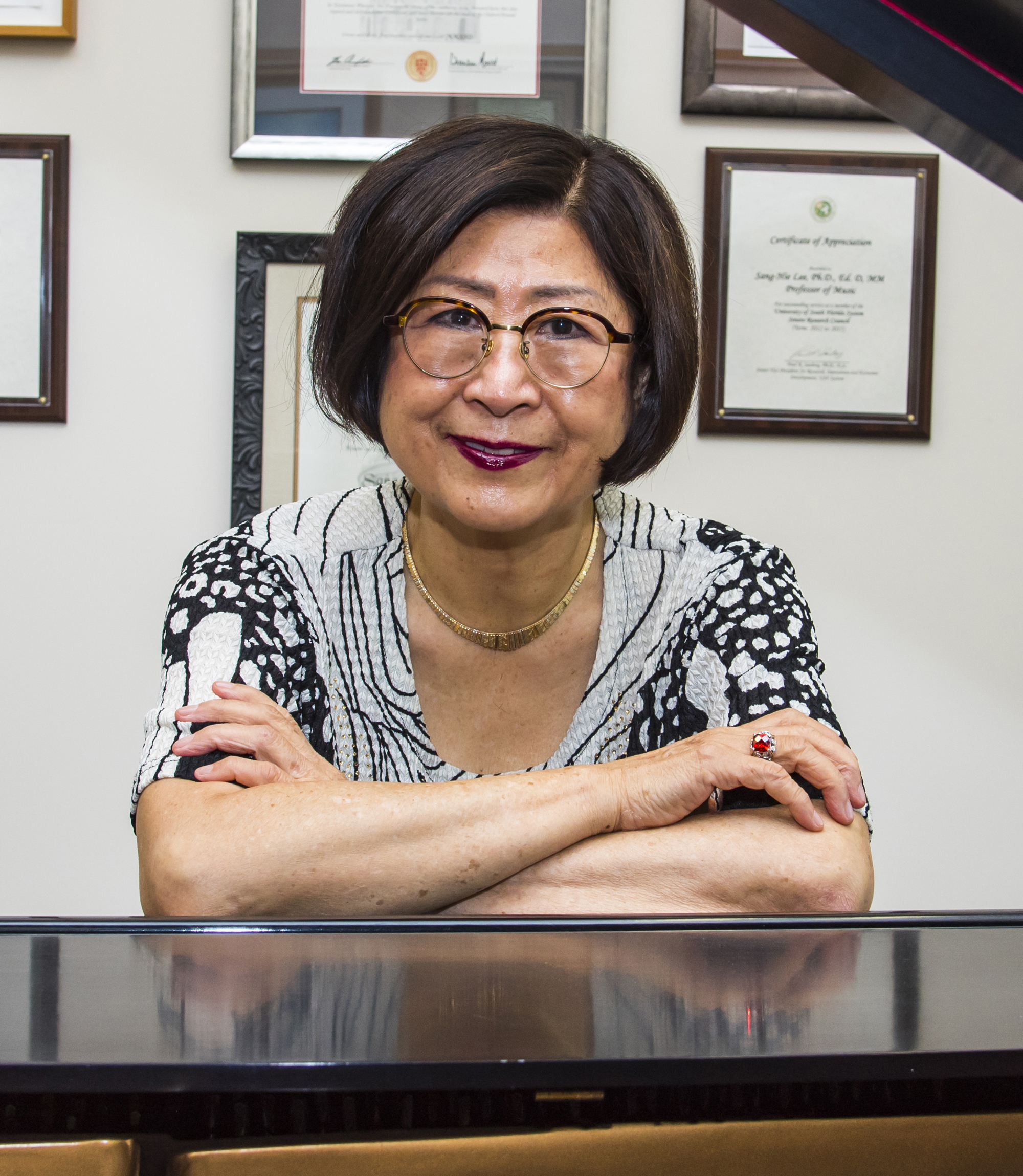 Sang-Hie Lee, PhD, Professor of Music in the Department of Music Medicine & Research, at USF