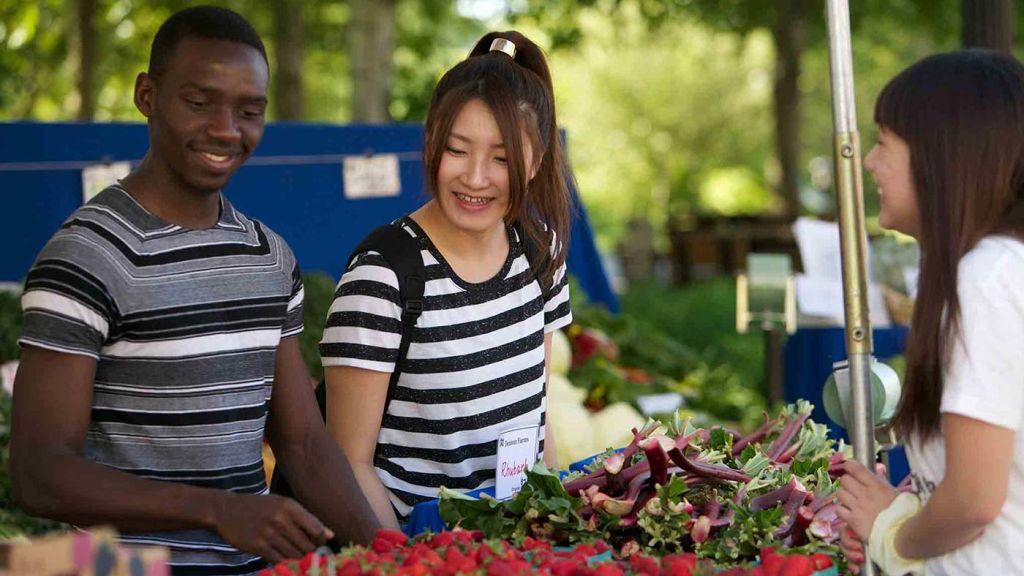 Farmers market at OSU