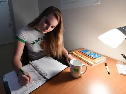 Marshall accommodations student writing desk