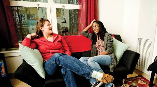 Accommodation in Tolley Hall and Brown Hall residence halls at Drew University