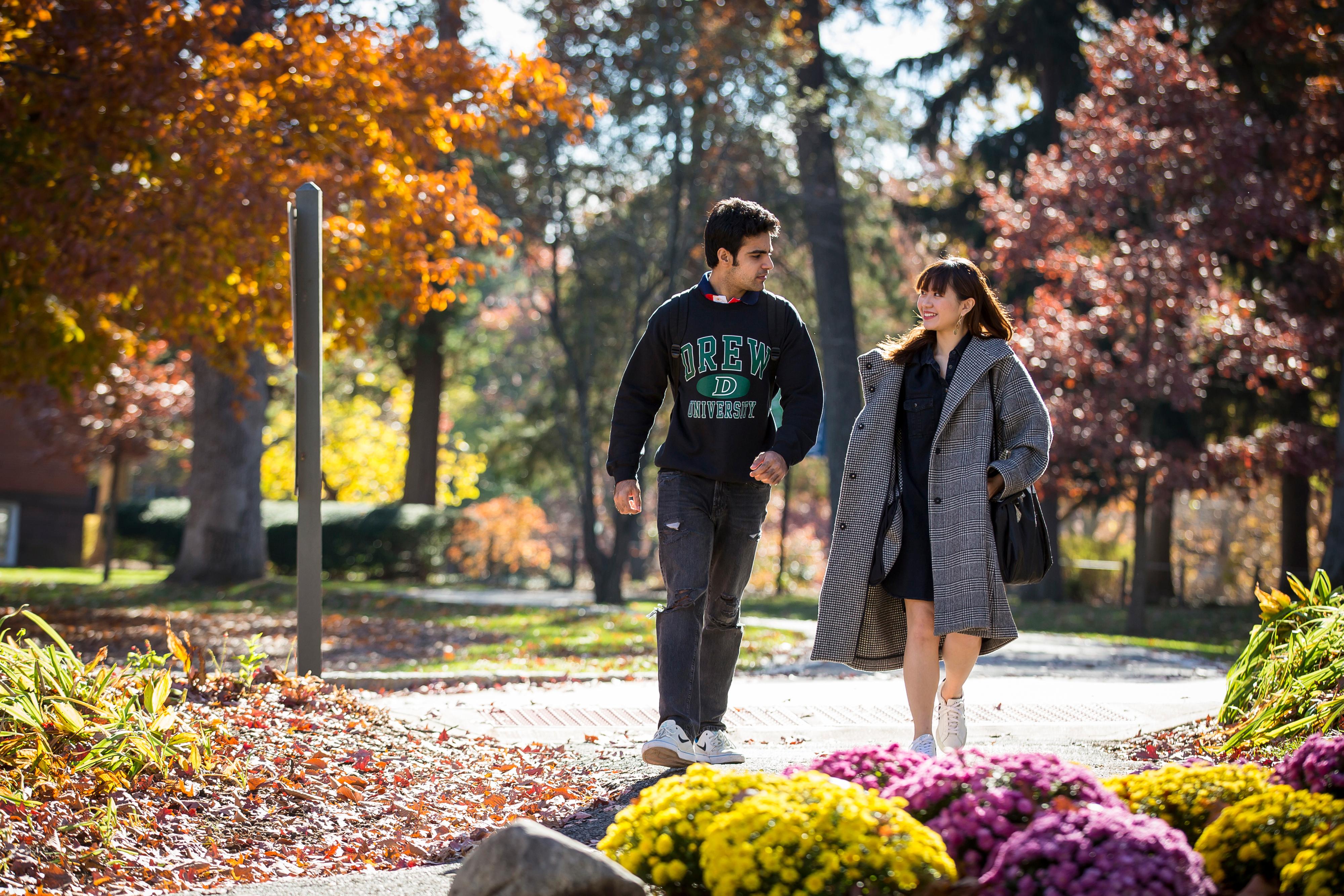 Drew international students on campus