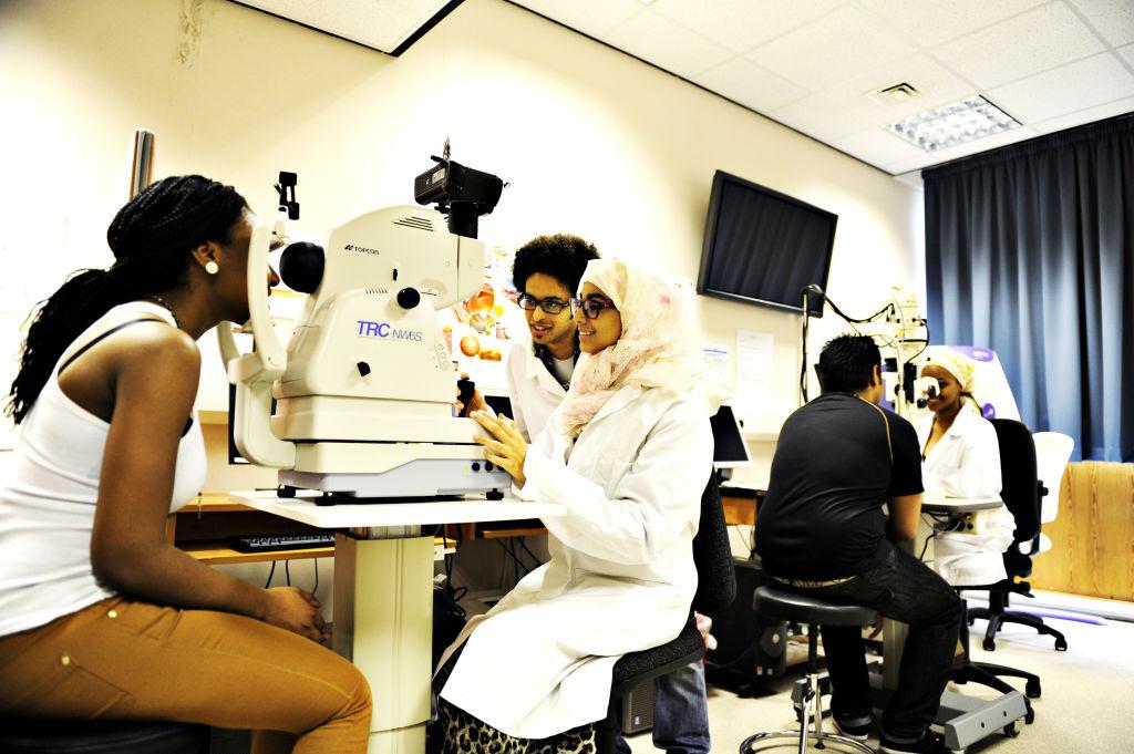 Optometry students