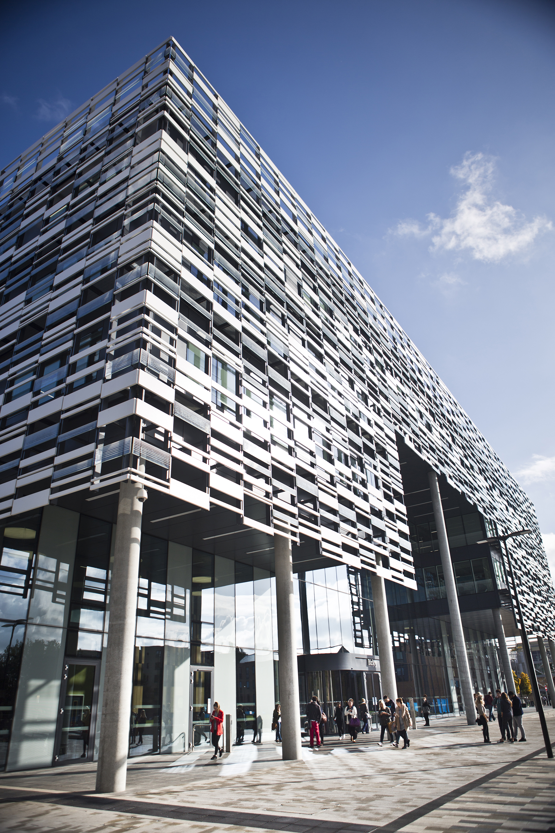 Exterior view of the Birley Building in Manchester