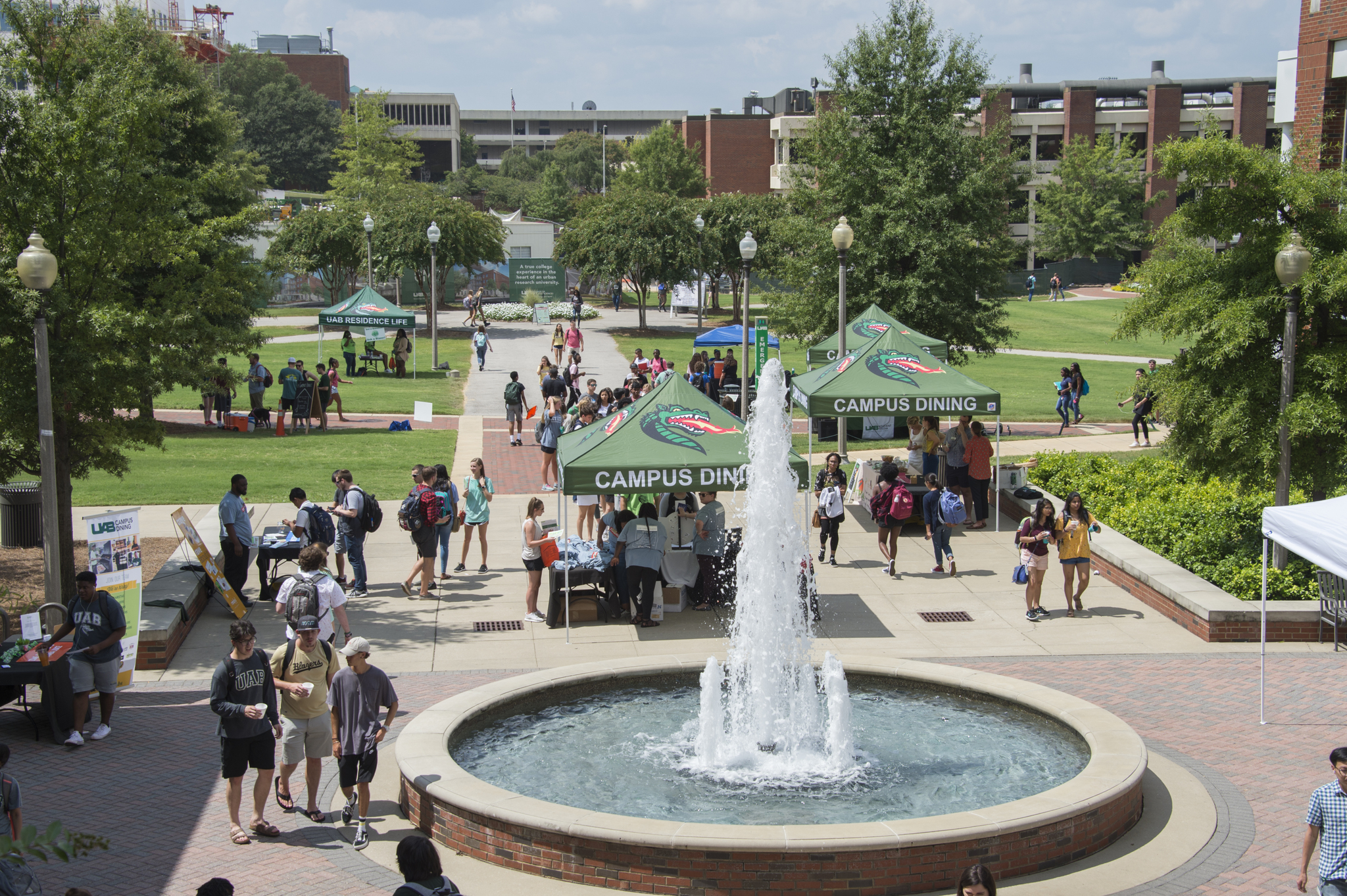 UAB campus event outside