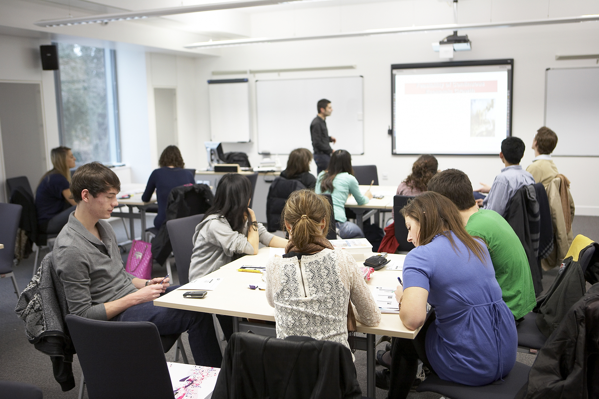 INTO international students in a classroom