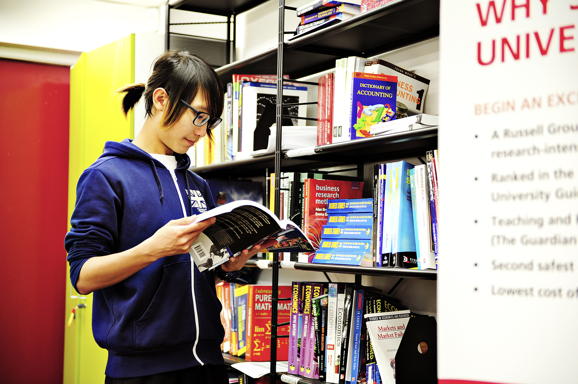 International student using the resources in the Learning Resource Centre