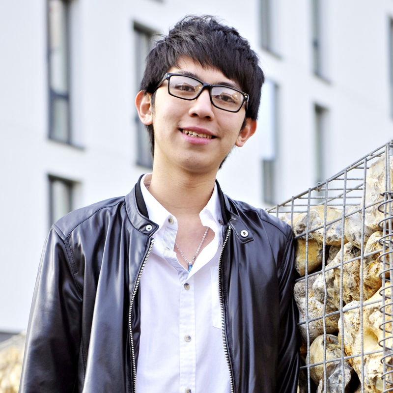 Photo of international student Yu-Wei at INTO University of East Anglia
