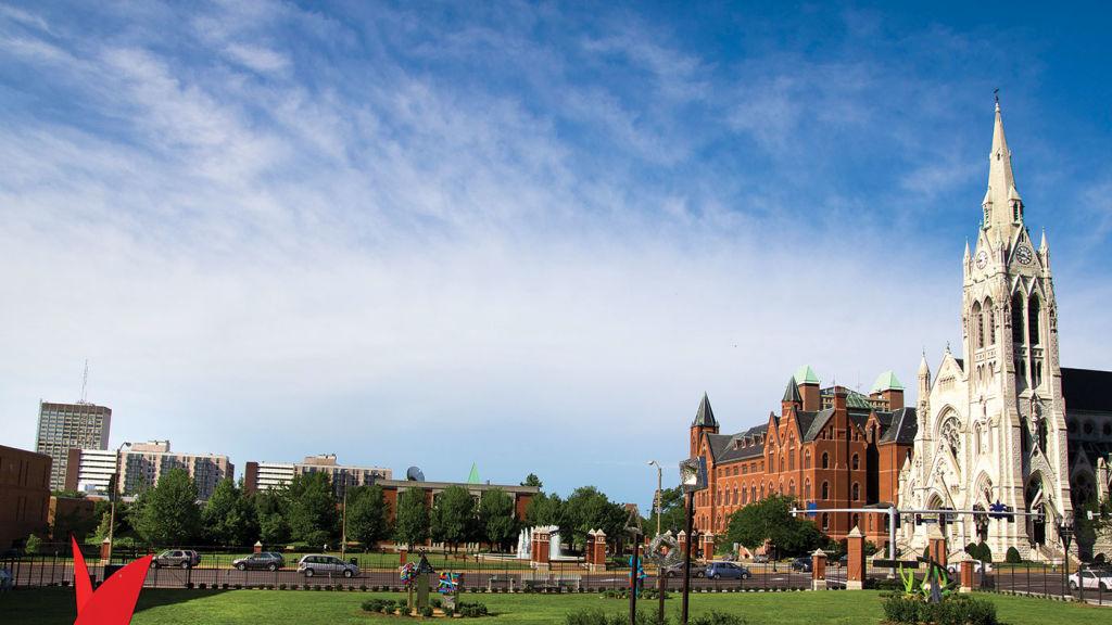 SLU campus buildings