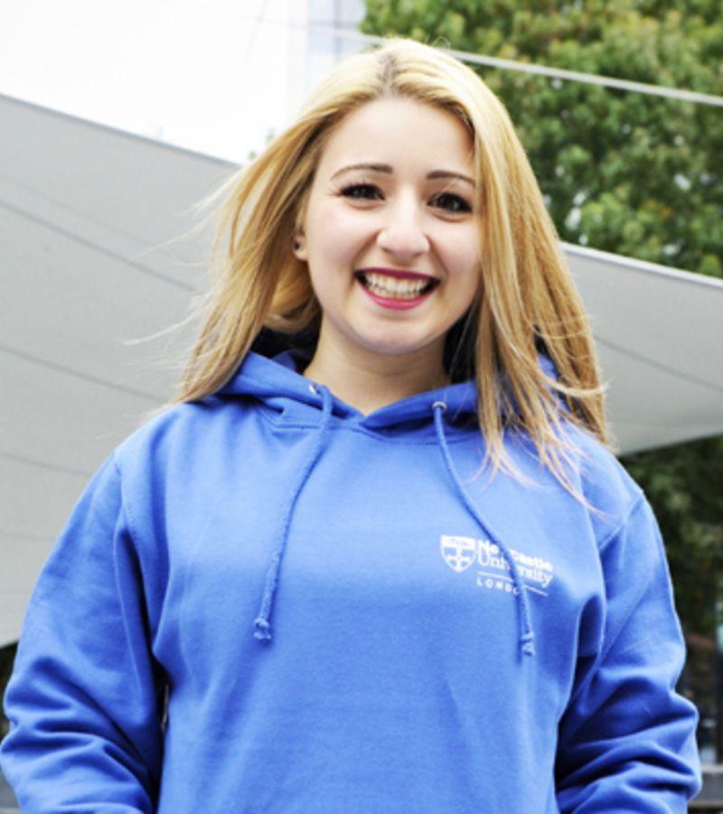 Photo of international student Elana at Newcastle University London