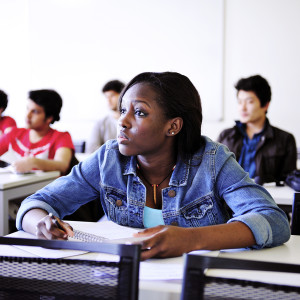 International students in classroom at University of Exeter