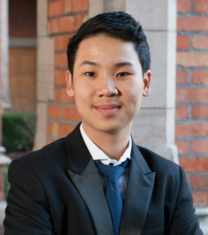 Photo of international student Minh at INTO Queen's University Belfast
