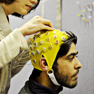 INTO Students using brainwave monitoring technology