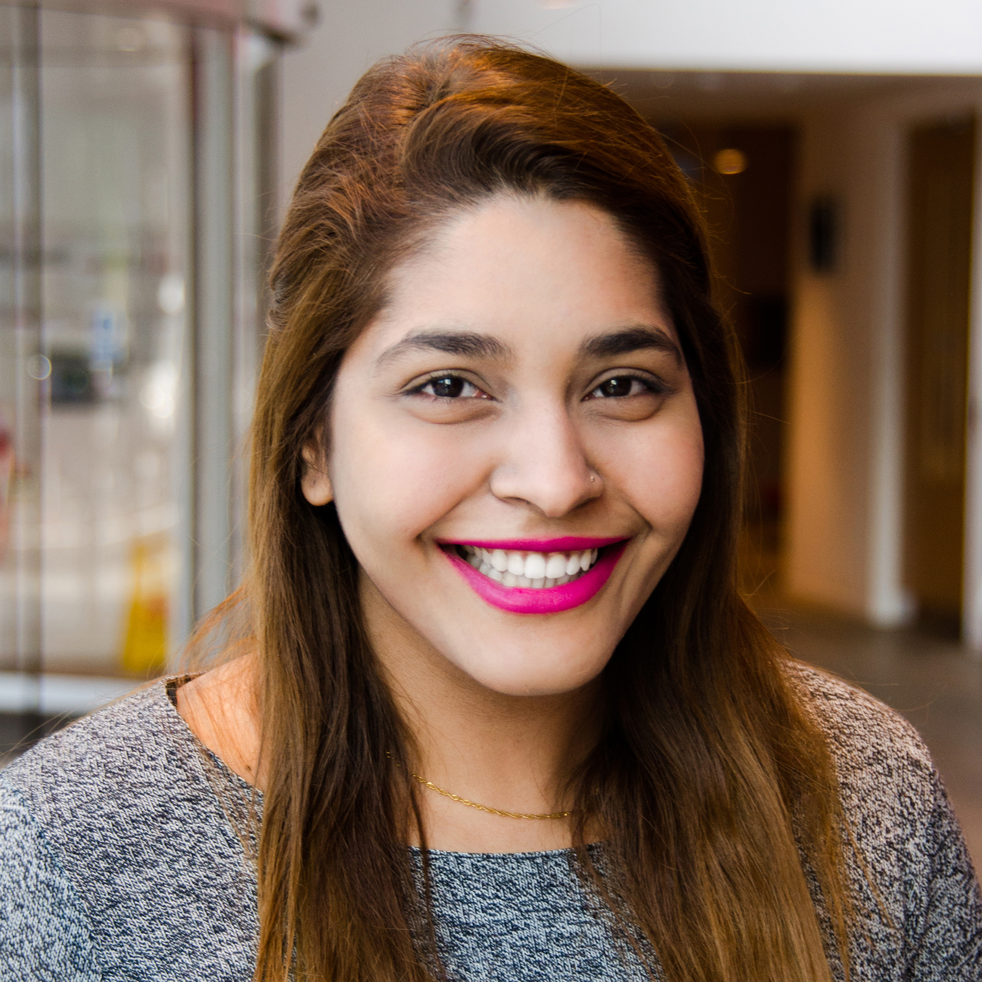 Photo of international student Radia at INTO London