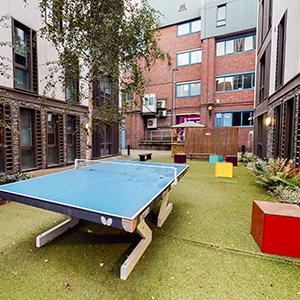 Magenta House outdoor games area