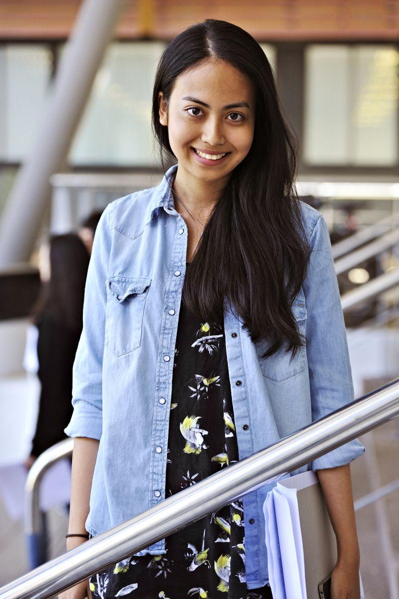 Photo of international student Anjali at INTO Newcastle University
