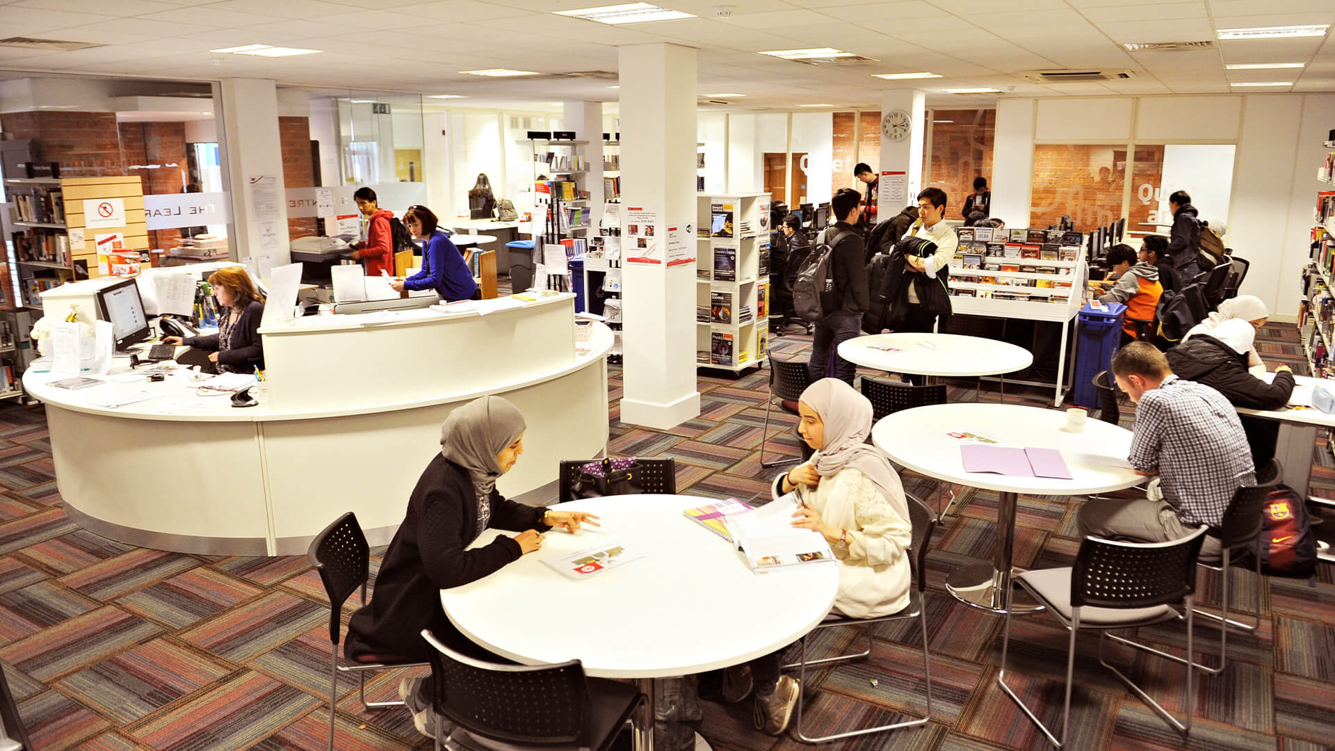 INTO Manchester has comfortable break-out areas for private study and relaxing with friends