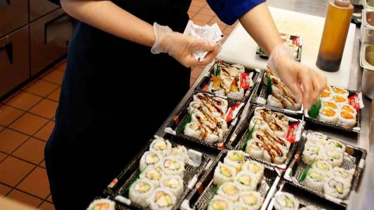 Sushi is one of many international food choices at Oregon State University