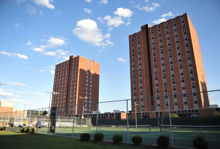 Twin Towers residence hall accommodation at Marshall University
